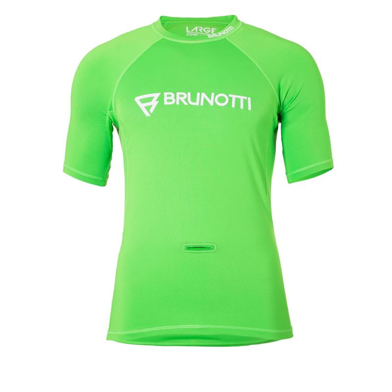 Brunotti Event Rashguard  (Groen) - HEREN TECHNICAL TOPS - Brunotti online shop