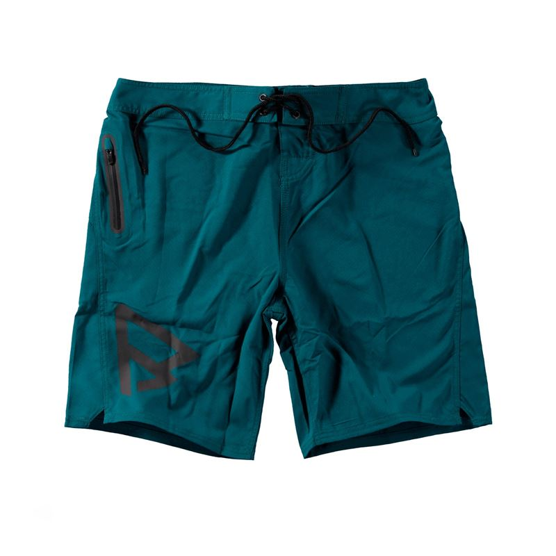 Brunotti Logo Boardshort Men Short (Green) - MEN SWIMSHORTS - Brunotti online shop