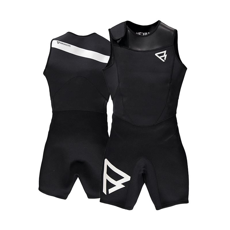 Brunotti Defence 2/2 Men Short John (zwart) - heren wetsuits - Brunotti online shop