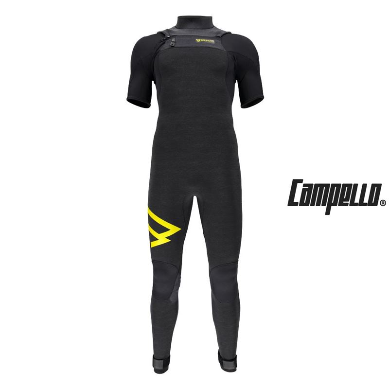 Brunotti Bravery 3/2 FZ Ricardo Campello Shortarm (black) - men wetsuits - Brunotti online shop