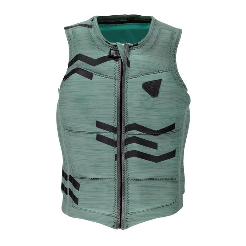 Brunotti Zigzag Wakevest FZ Men Technical Vest (green) - men wake vests - Brunotti online shop