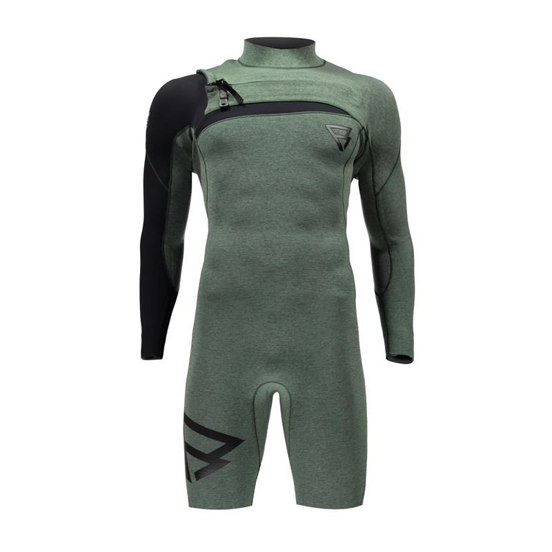 Brunotti Bravo 3/2 Youri Zoon Men Longarm Shorty (grün) - herren wetsuits - Brunotti online shop