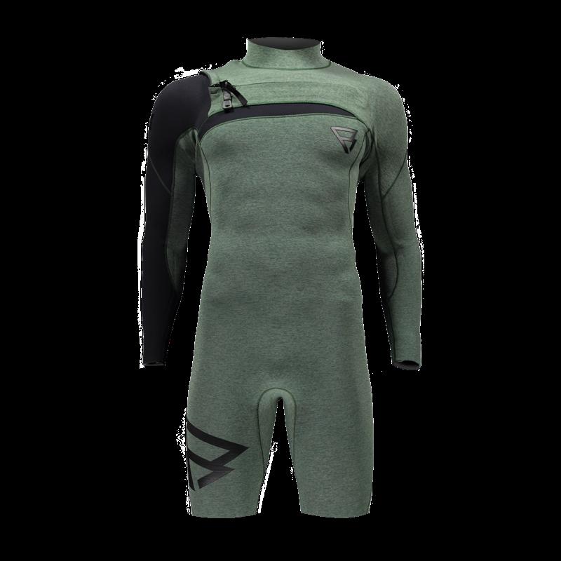 Brunotti Bravo Longarm Shorty YZ (Green) - MEN WETSUITS - Brunotti online shop