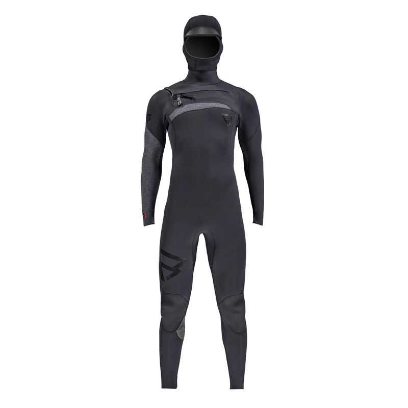 Brunotti Bravo Hooded 6/4 Men Wetsuit (zwart) - heren wetsuits - Brunotti online shop