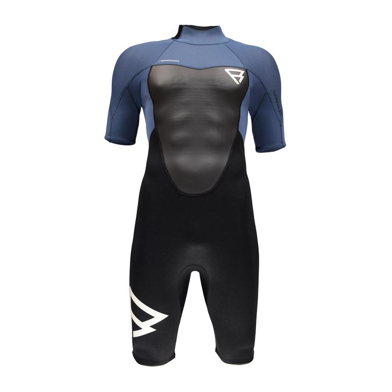 Brunotti Defence 3/2 Men Shorty (blauw) - heren wetsuits - Brunotti online shop