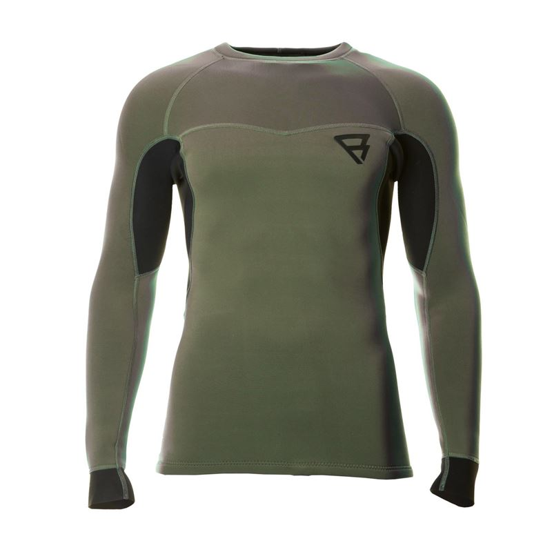 Brunotti Bravo Neo L/S Top 2MM Men TECHNICAL SHIRT (Green) - MEN TECHNICAL TOPS - Brunotti online shop