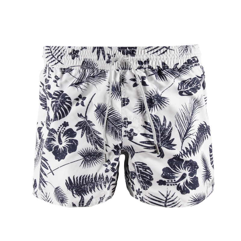 Brunotti Crunot Allover Men Short (Wit) - HEREN ZWEMSHORTS - Brunotti online shop