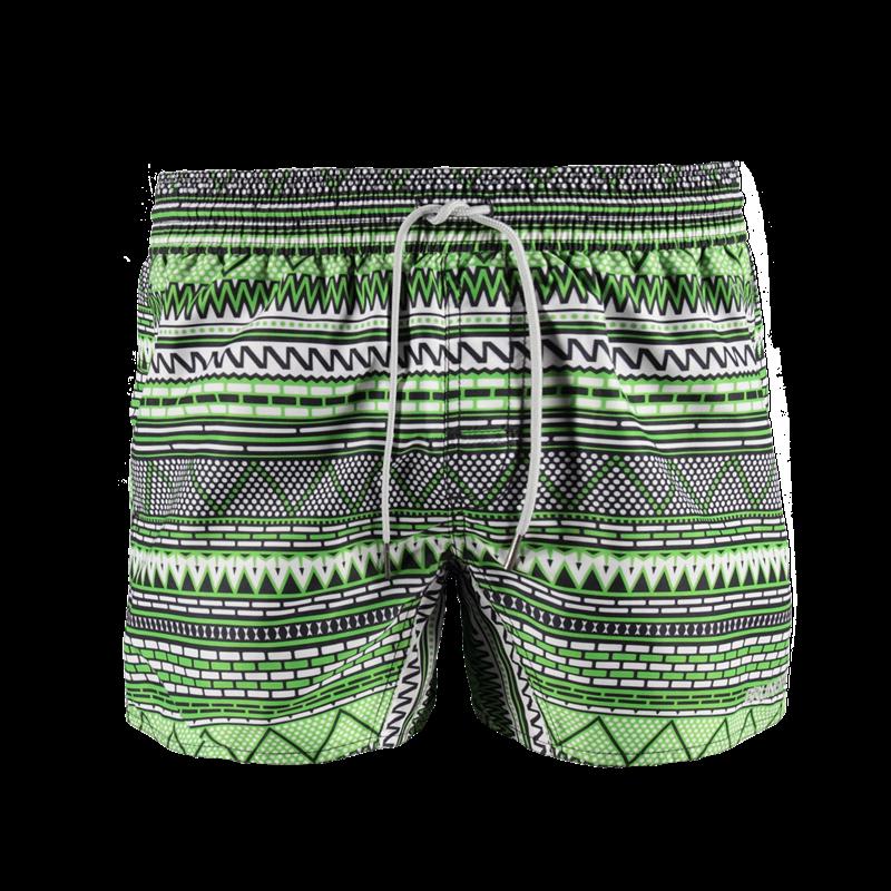 Brunotti Crunot Allover Men Short (Groen) - HEREN ZWEMSHORTS - Brunotti online shop