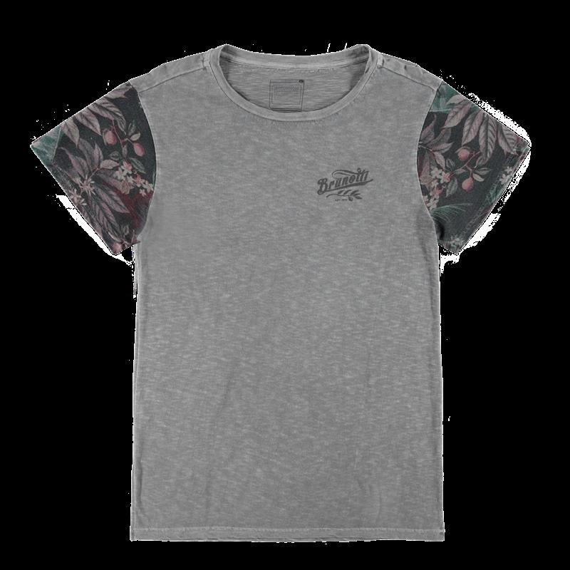 Brunotti Arrivabene Men T-shirt (Grijs) - HEREN T-SHIRTS & POLO'S - Brunotti online shop