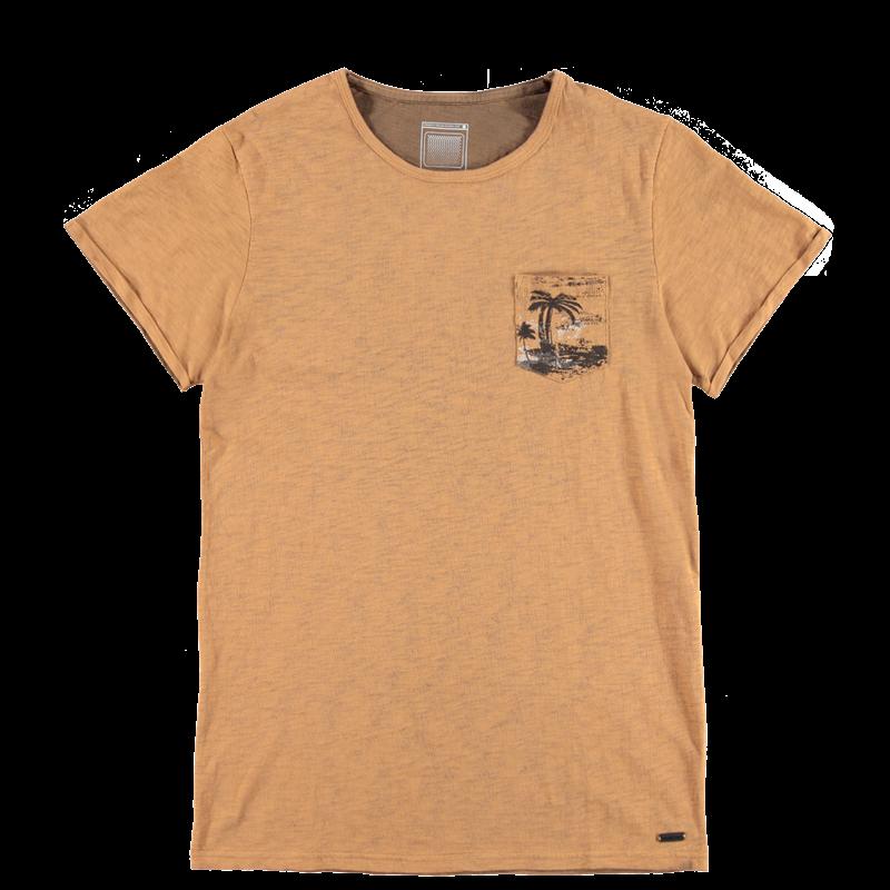 Brunotti Ancona Men T-shirt (Bruin) - HEREN T-SHIRTS & POLO'S - Brunotti online shop