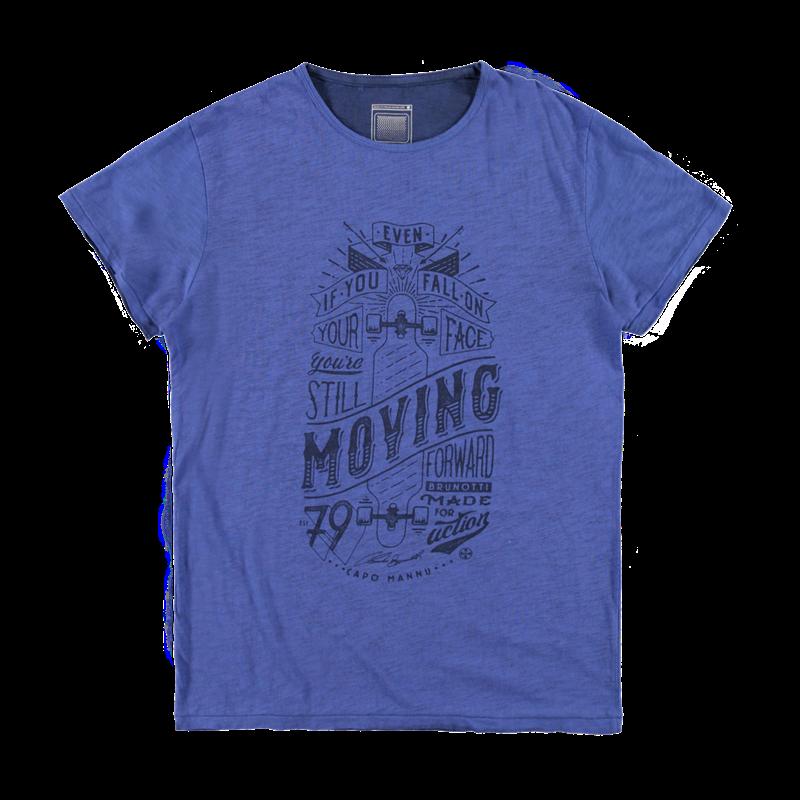 Brunotti Amaldi Men T-shirt (Blauw) - HEREN T-SHIRTS & POLO'S - Brunotti online shop