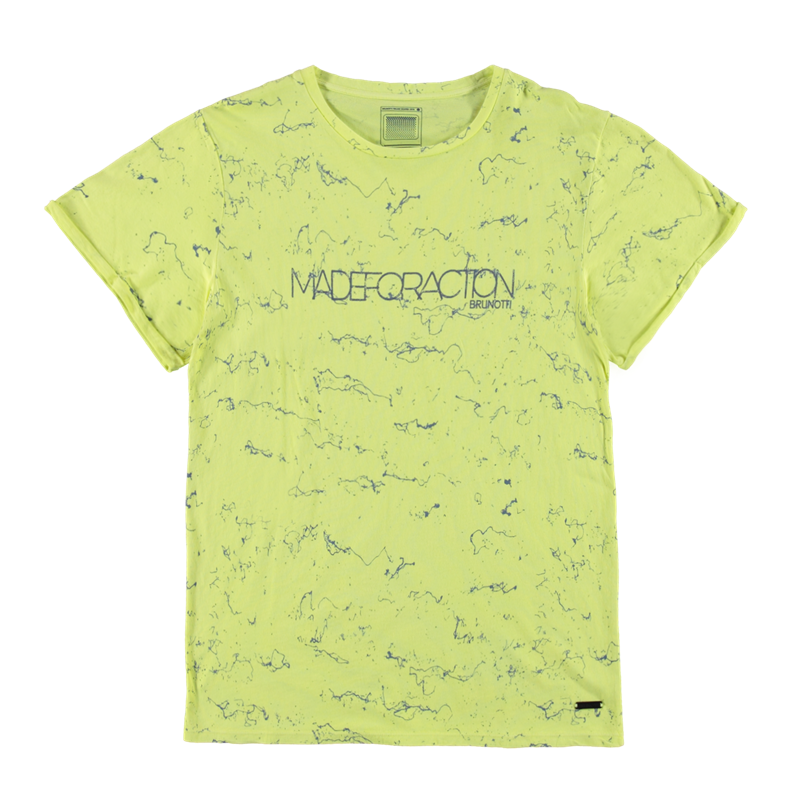 Brunotti Arcalli Men T-shirt (Geel) - HEREN T-SHIRTS & POLO'S - Brunotti online shop