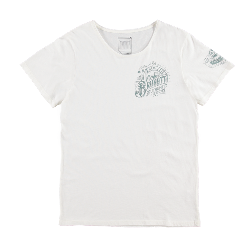 Brunotti Allioni Men T-shirt (Wit) - HEREN T-SHIRTS & POLO'S - Brunotti online shop