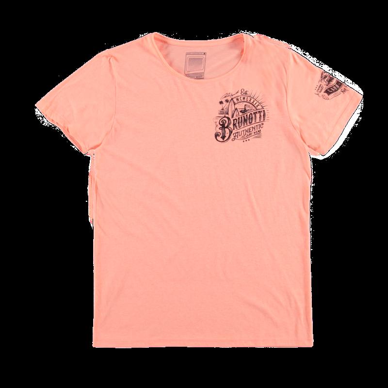 Brunotti Allioni Men T-shirt (Roze) - HEREN T-SHIRTS & POLO'S - Brunotti online shop