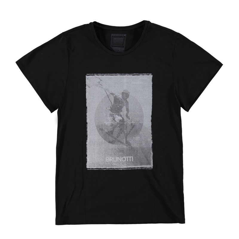 Brunotti Altissimo Men T-shirt (Zwart) - HEREN T-SHIRTS & POLO'S - Brunotti online shop