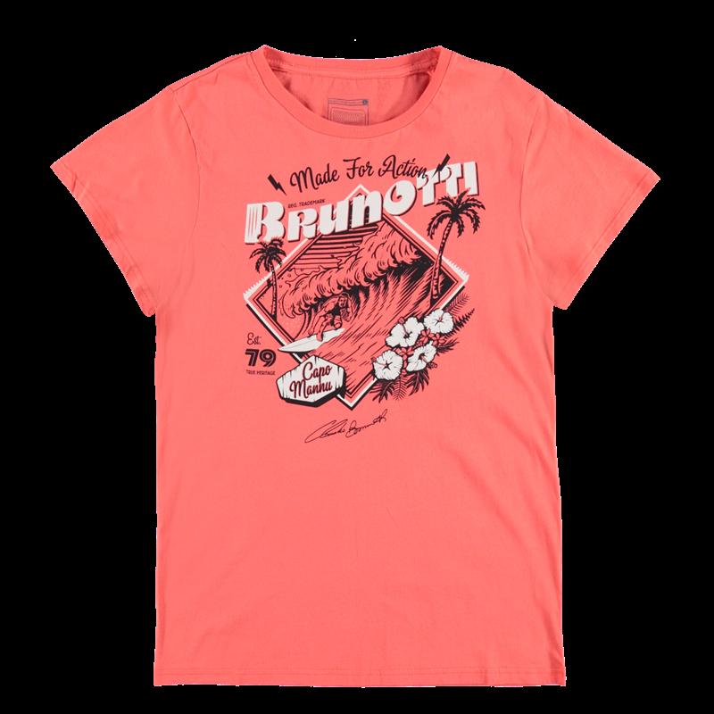 Brunotti Andante P-109 Men T-shirt (Rood) - HEREN T-SHIRTS & POLO'S - Brunotti online shop