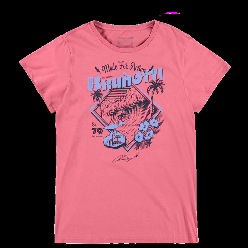 Brunotti Andante P-109 Men T-shirt (Roze) - HEREN T-SHIRTS & POLO'S - Brunotti online shop