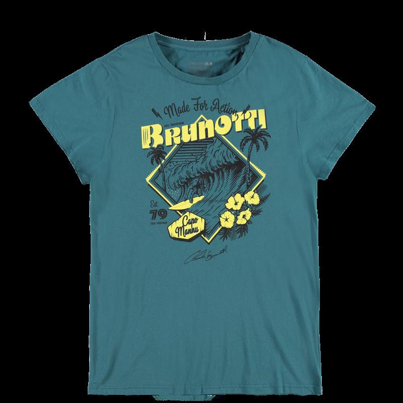 Brunotti Andante P-109 Men T-shirt (Groen) - HEREN T-SHIRTS & POLO'S - Brunotti online shop