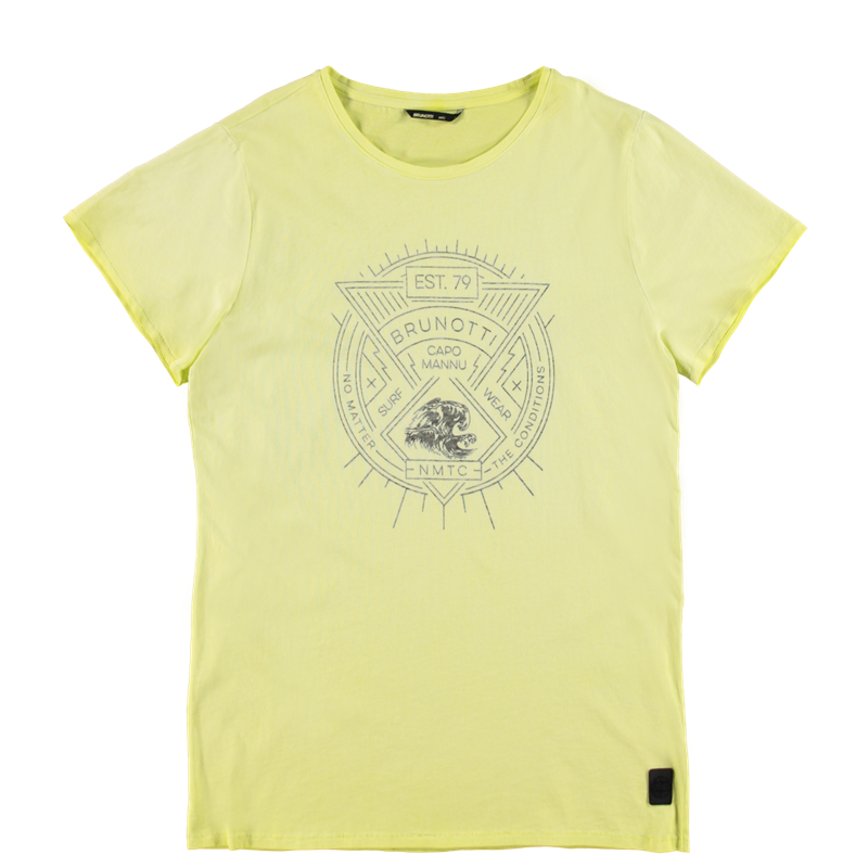 Brunotti Anemisi Men T-shirt (Geel) - HEREN T-SHIRTS & POLO'S - Brunotti online shop