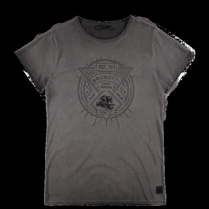 Brunotti Anemisi Men T-shirt (Grijs) - HEREN T-SHIRTS & POLO'S - Brunotti online shop