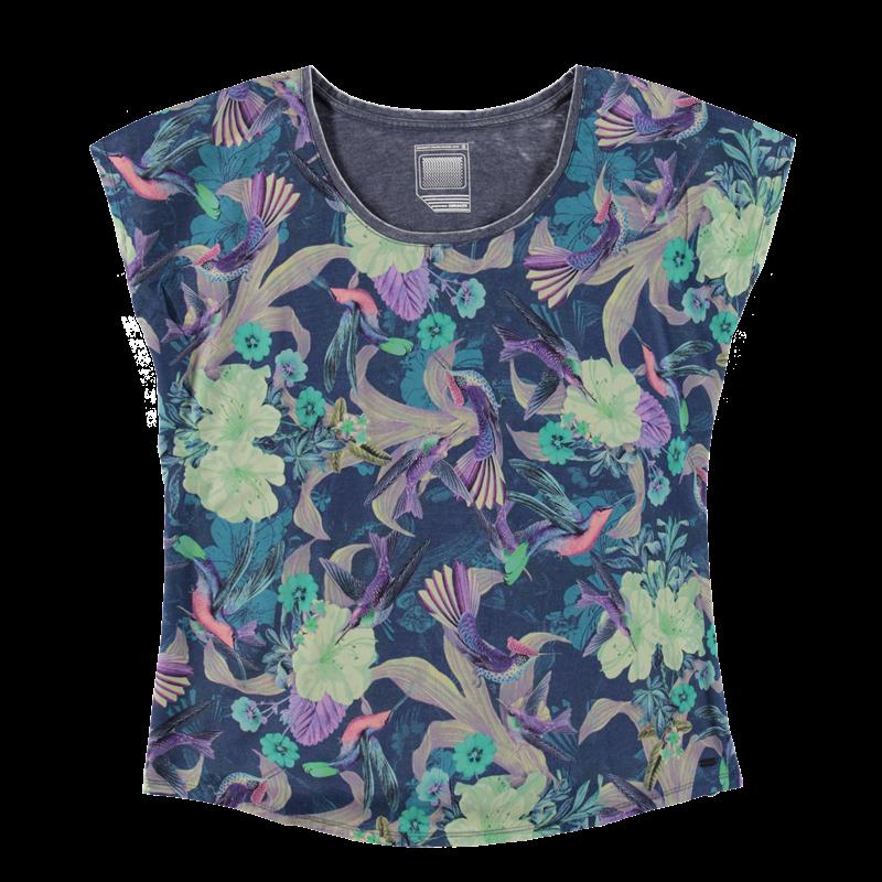Brunotti Bladina Women T-shirt (Blauw) - DAMES T-SHIRTS & TOPJES - Brunotti online shop