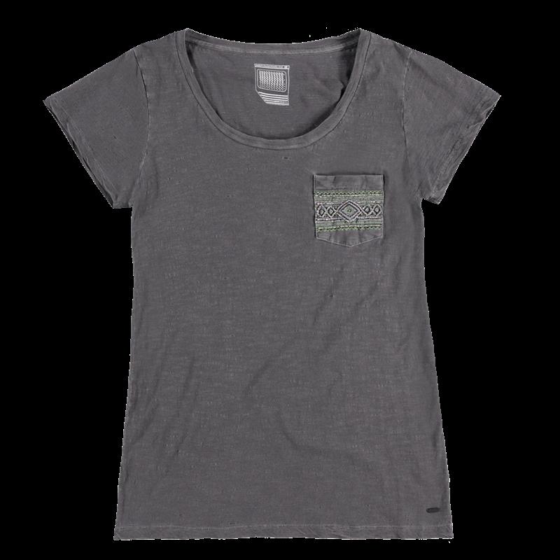 Brunotti Badigana Women T-shirt (Zwart) - DAMES T-SHIRTS & TOPJES - Brunotti online shop