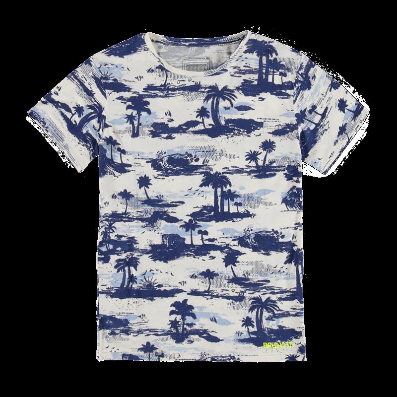 Brunotti Arduim JR Boys T-shirt (Wit) - JONGENS T-SHIRTS & POLO'S - Brunotti online shop