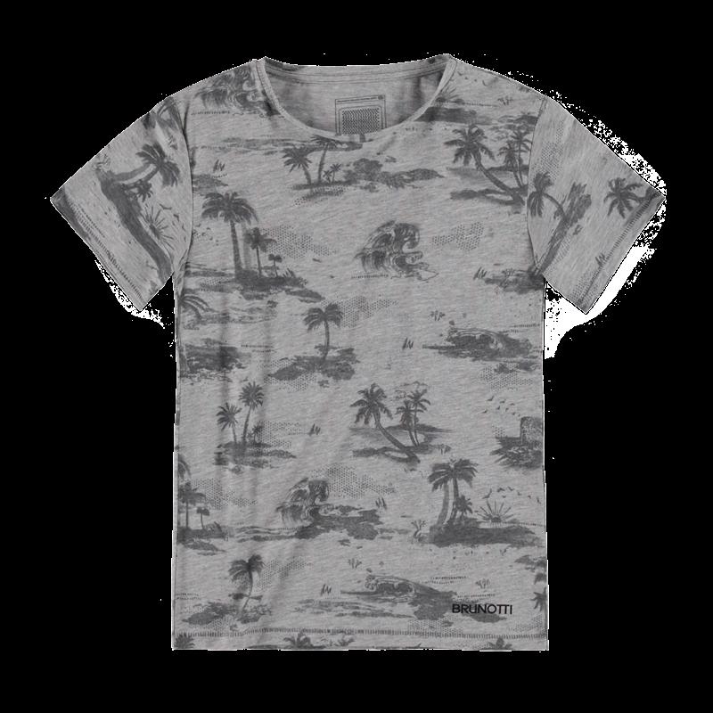 Brunotti Arduim JR Boys T-shirt (Grijs) - JONGENS T-SHIRTS & POLO'S - Brunotti online shop