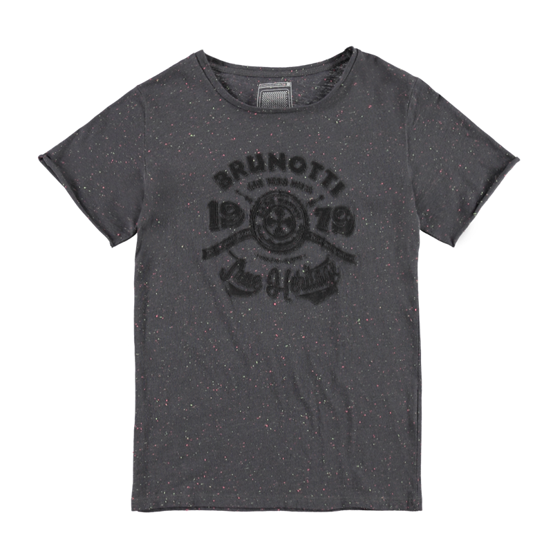 Brunotti Alexor JR Boys T-shirt (Grijs) - JONGENS T-SHIRTS & POLO'S - Brunotti online shop