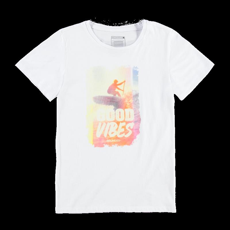 Brunotti Altismo Jr Boys T-shirt (Wit) - JONGENS T-SHIRTS & POLO'S - Brunotti online shop