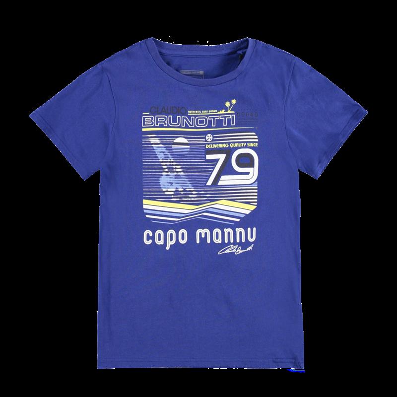 Brunotti Adams JR P-163 Boys T-shirt (Blauw) - JONGENS T-SHIRTS & POLO'S - Brunotti online shop