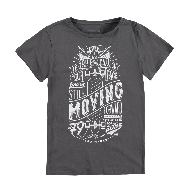 Brunotti Adams JR P-118 Boys T-shirt (Grijs) - JONGENS T-SHIRTS & POLO'S - Brunotti online shop