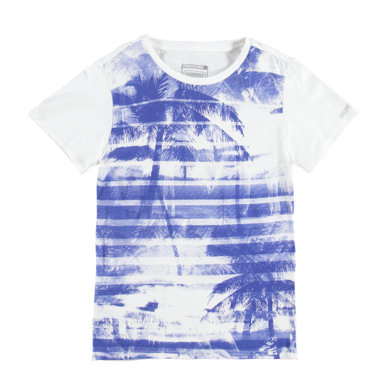 Brunotti Adams JR P-117 Boys T-shirt (Wit) - JONGENS T-SHIRTS & POLO'S - Brunotti online shop