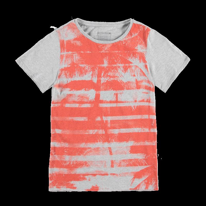 Brunotti Adams JR P-117 Boys T-shirt (Grijs) - JONGENS T-SHIRTS & POLO'S - Brunotti online shop