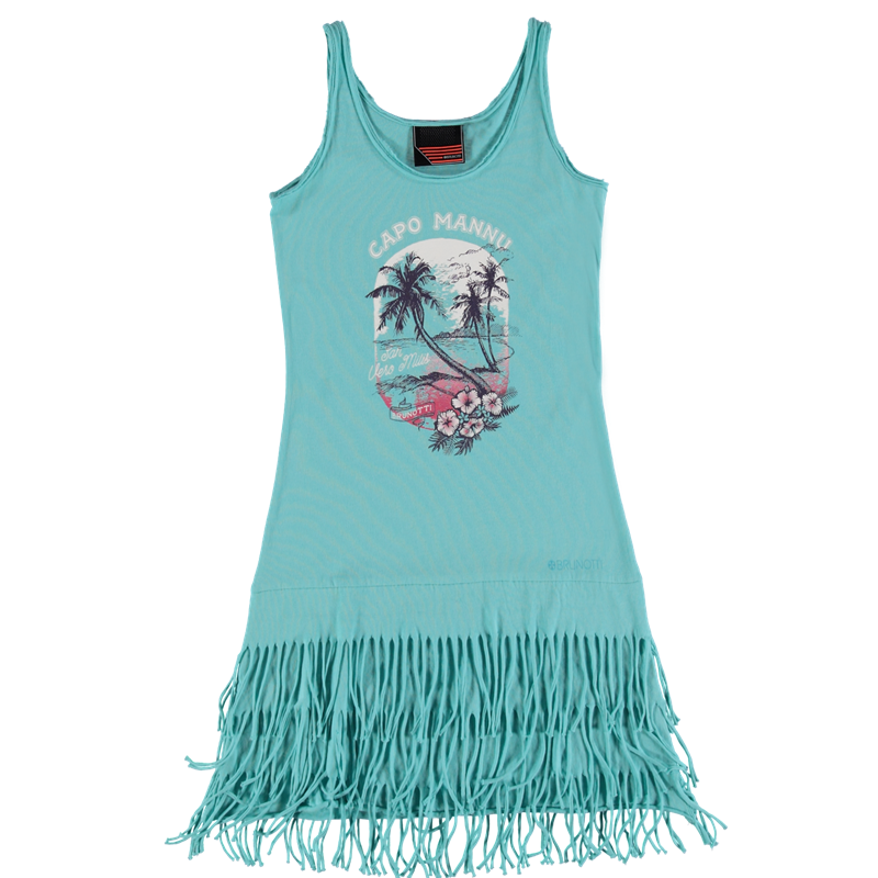 Brunotti Ijarna JR Girls Dress (Groen) - MEISJES JURKEN & ROKKEN - Brunotti online shop