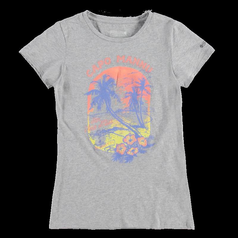 Brunotti Badiga JR P-158 Girls T-shirt (Grijs) - MEISJES T-SHIRTS & TOPJES - Brunotti online shop
