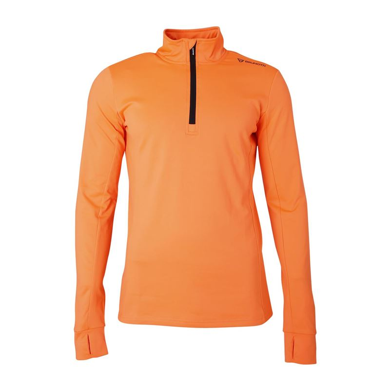 Brunotti Terni-N  (oranje) - heren fleeces - Brunotti online shop