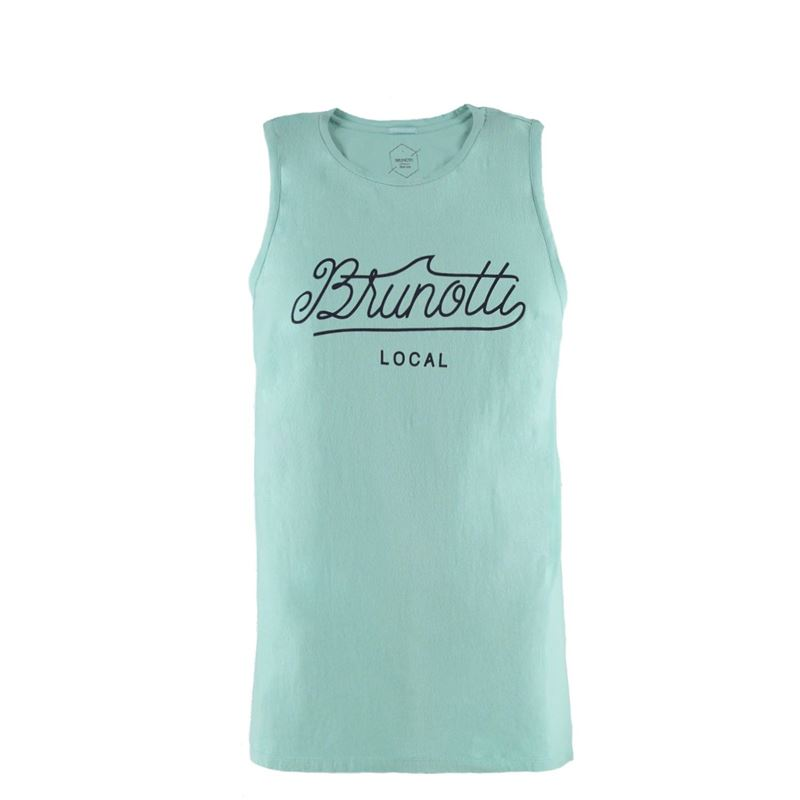 Brunotti Kendrick Men Singlet (Blauw) - HEREN T-SHIRTS & POLO'S - Brunotti online shop