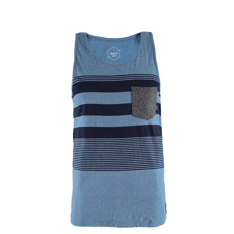 Brunotti Trevon Men Singlet (Blue) - MEN T-SHIRTS & POLOS - Brunotti online shop