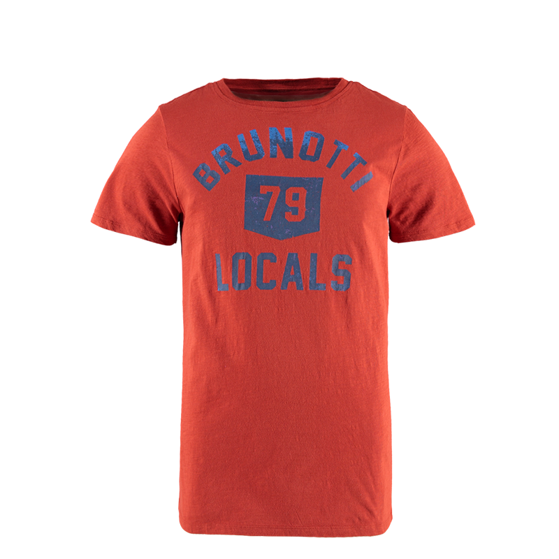 Brunotti college men t shirt rot herren t shirts for T shirts for college guys