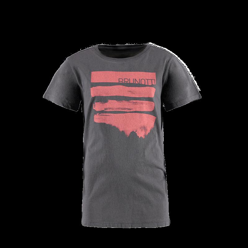 Brunotti Seashell JR Boys  T-shirt (Grijs) - JONGENS T-SHIRTS & POLO'S - Brunotti online shop