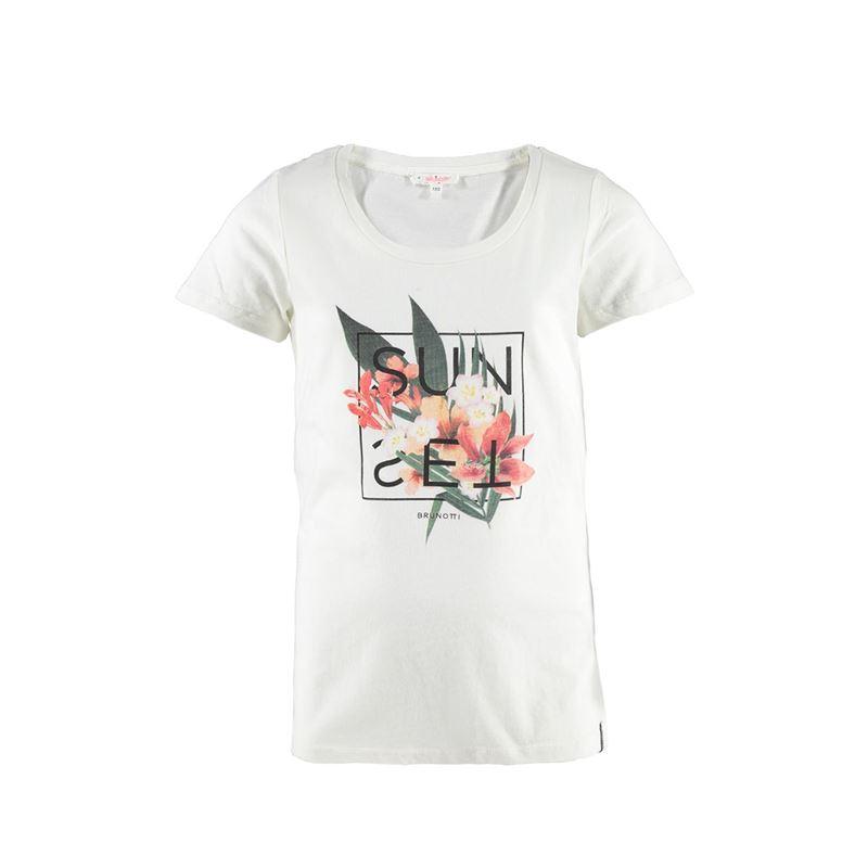 Brunotti Rupaya JR Girls T-shirt (Wit) - MEISJES T-SHIRTS & TOPJES - Brunotti online shop