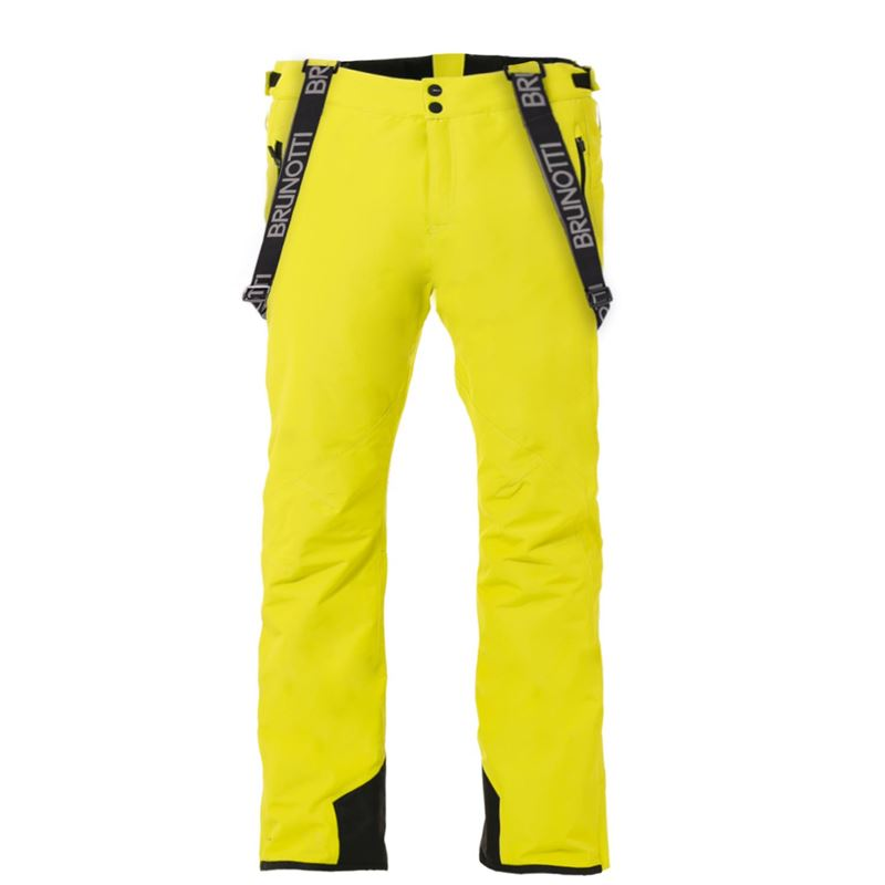 Brunotti Damiro Dull Nylon Men Snowpant (Yellow) - MEN SNOW PANTS - Brunotti online shop
