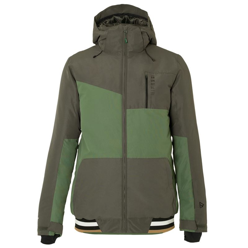 Brunotti Regor Men Snowjacket (Grey) - MEN JACKETS - Brunotti online shop