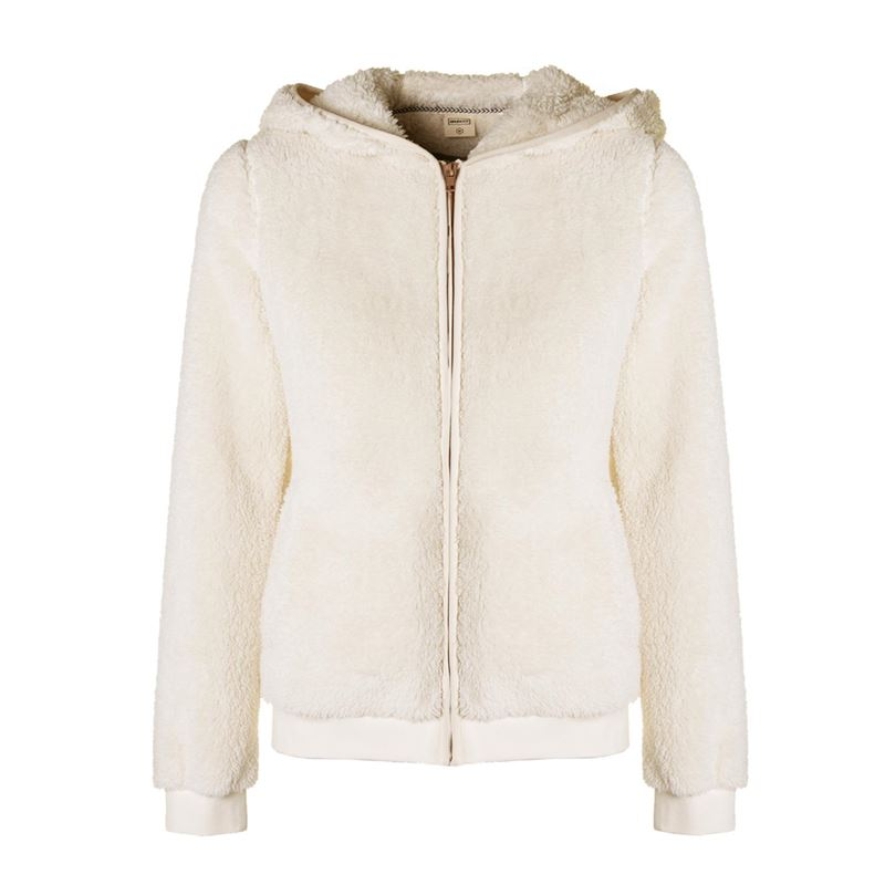 Brunotti Alvina Women Fleece (White) - WOMEN JUMPERS & CARDIGANS - Brunotti online shop
