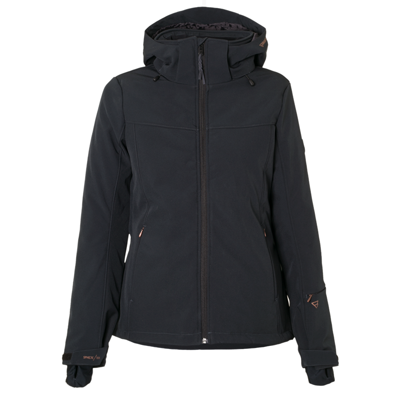 Brunotti Aries Women Softshell jacket (Black) - WOMEN JACKETS - Brunotti online shop