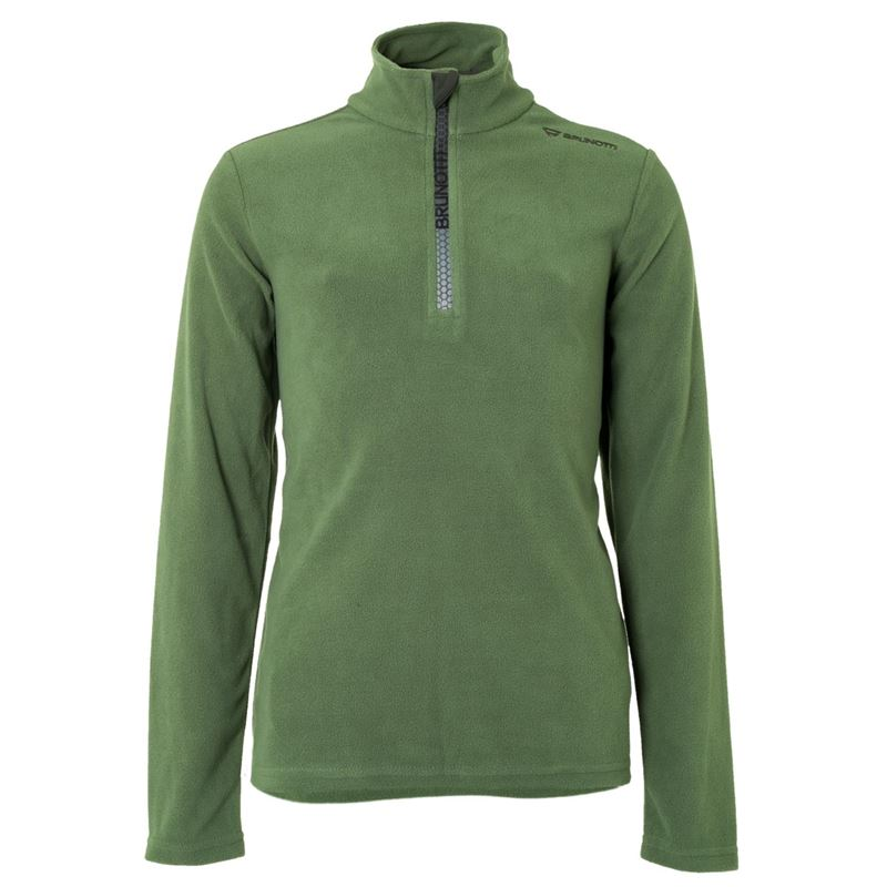 Brunotti Tenno JR Boys  Fleece (Groen) - JONGENS FLEECES - Brunotti online shop