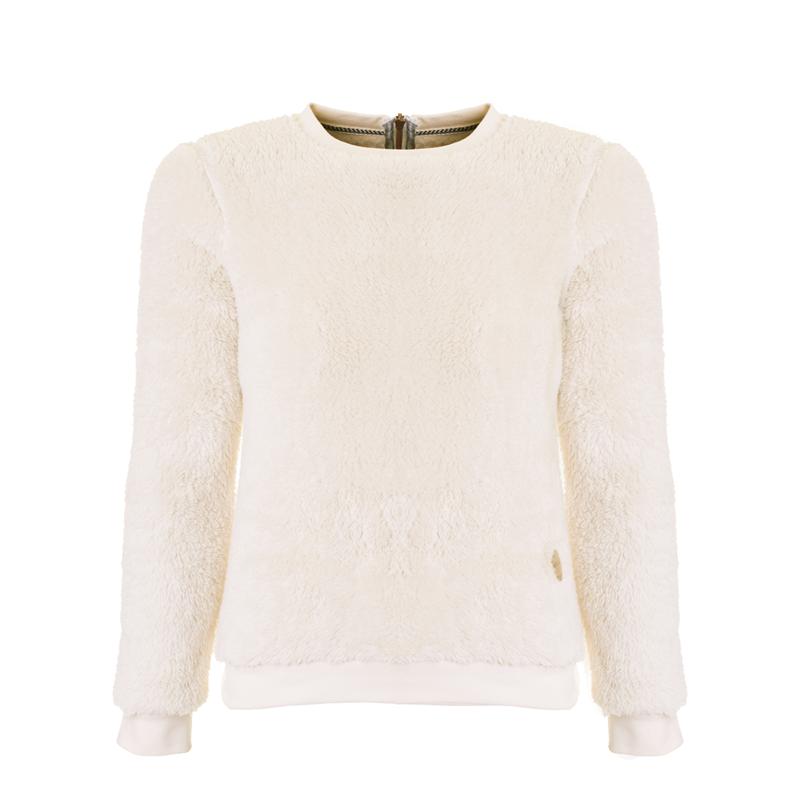 Brunotti Lyra JR Girls Fleece (Wit) - MEISJES TRUIEN & VESTEN - Brunotti online shop