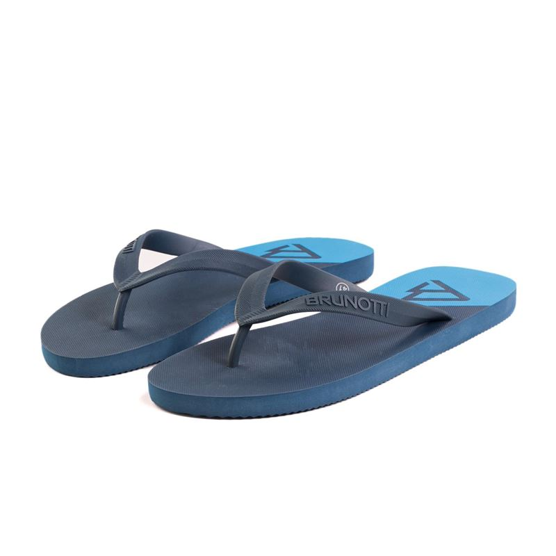 Brunotti Broadleaf  (blauw) - heren slippers - Brunotti online shop