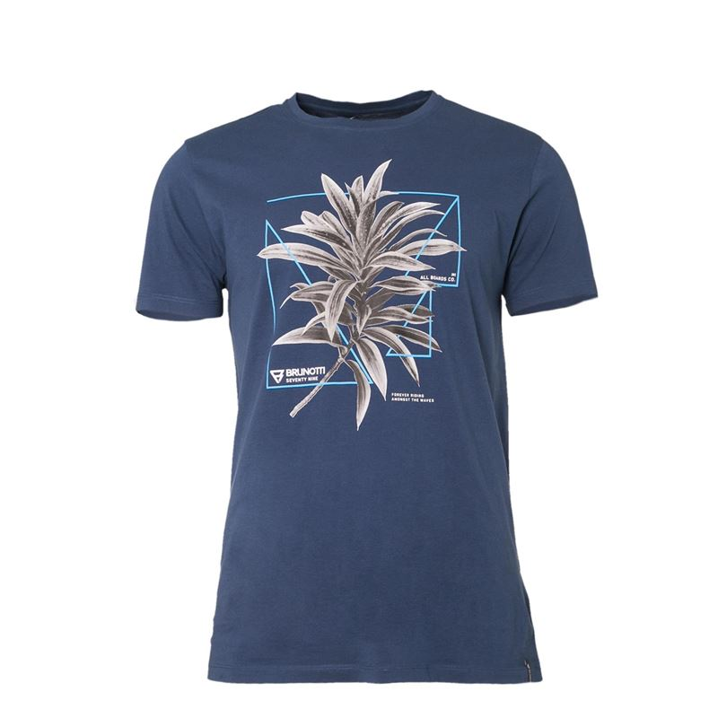 Brunotti Warped  (blauw) - heren t-shirts & polo's - Brunotti online shop